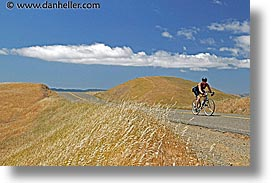 bikers, california, headlands, hills, horizontal, landscapes, marin, marin county, marin headlands, north bay, northern california, san francisco bay area, west coast, western usa, photograph