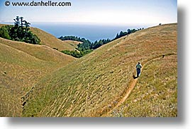 california, headlands, hikers, hills, hillside, horizontal, landscapes, marin, marin county, marin headlands, north bay, northern california, san francisco bay area, west coast, western usa, photograph