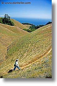 california, headlands, hikers, hills, hillside, landscapes, marin, marin county, marin headlands, north bay, northern california, san francisco bay area, vertical, west coast, western usa, photograph