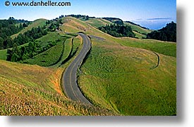 california, headlands, hills, horizontal, marin, marin county, marin headlands, north bay, northern california, roads, san francisco bay area, trees, west coast, western usa, winding, winding road, photograph
