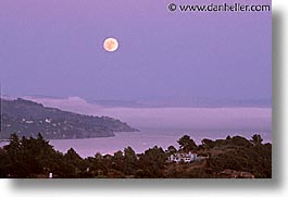 california, horizontal, marin, marin county, mill, mill valley tiburon, moon, north bay, northern california, san francisco bay area, valley, west coast, western usa, photograph