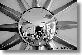 black and white, california, horizontal, marin, marin county, mirrors, north bay, northern california, san francisco bay area, self-portrait, west coast, western usa, photograph