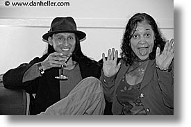 black and white, california, closing nite, couples, events, film festival, horizontal, marin, marin county, mill valley film festival, north bay, northern california, people, san francisco bay area, surprise, west coast, western usa, photograph