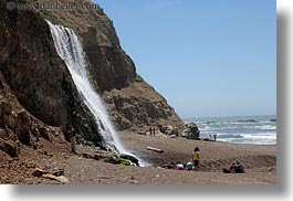 beaches, california, horizontal, marin, marin county, north bay, northern california, palomarin trail, waterfalls, west coast, western usa, photograph