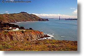 california, coastline, headlands, horizontal, houses, lighthouses, marin, marin county, north bay, northern california, pacific ocean, point bonita, san francisco bay area, scenics, water, west coast, western usa, photograph