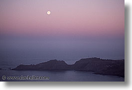 bonita, california, coastline, horizontal, lighthouses, marin, marin county, moon, north bay, northern california, pacific ocean, point, point bonita, san francisco bay area, scenics, water, west coast, western usa, photograph