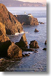 bonita, california, coastline, lighthouses, marin, marin county, north bay, northern california, pacific ocean, point, point bonita, san francisco bay area, scenics, vertical, water, west coast, western usa, photograph