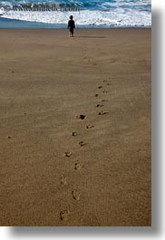 beaches, california, footprints, leading, marin, marin county, materials, north bay, northern california, people, sand, vertical, west coast, western usa, photograph