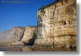 beaches, california, cliffs, haze, horizontal, marin, marin county, north bay, northern california, people, west coast, western usa, photograph