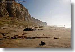beaches, california, cliffs, haze, horizontal, marin, marin county, north bay, northern california, sand, west coast, western usa, photograph