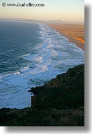 beaches, california, coastline, long, marin, marin county, north bay, northern california, vertical, west coast, western usa, photograph