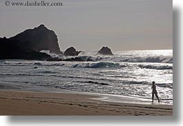 beaches, california, horizontal, marin, marin county, north bay, northern california, people, silhouettes, water, west coast, western usa, photograph