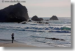 artists, beaches, california, horizontal, marin, marin county, north bay, northern california, people, photographers, silhouettes, water, west coast, western usa, photograph