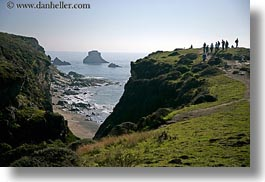 bear valley trail, bluff, california, hikers, horizontal, ledge, marin, marin county, north bay, northern california, shoreline, west coast, western usa, photograph