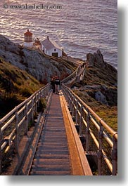 california, downview, lighthouses, marin, marin county, nature, north bay, northern california, perspective, sky, sun, sunsets, vertical, west coast, western usa, photograph