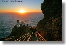 california, downview, horizontal, lighthouses, marin, marin county, nature, north bay, northern california, perspective, sky, sun, sunsets, west coast, western usa, photograph