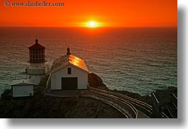 california, horizontal, lighthouses, marin, marin county, nature, north bay, northern california, sky, sun, sunsets, west coast, western usa, photograph