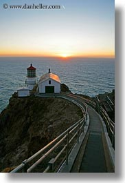 california, lighthouses, marin, marin county, nature, north bay, northern california, sky, sun, sunsets, vertical, west coast, western usa, photograph
