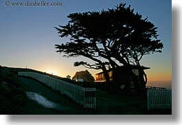 california, horizontal, houses, marin, marin county, north bay, northern california, silhouettes, trees, west coast, western usa, photograph