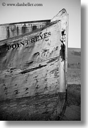 black and white, boats, california, marin, marin county, north bay, northern california, point, reyes, vertical, west coast, western usa, photograph