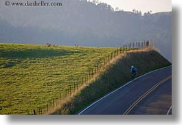 bicycles, california, hills, hilly, horizontal, marin, marin county, nature, north bay, northern california, olema, roads, scenics, west coast, western usa, photograph