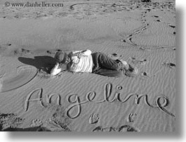 angeline, beaches, black and white, california, horizontal, jack jill, jills, marin, marin county, north bay, northern california, people, sand, west coast, western usa, photograph