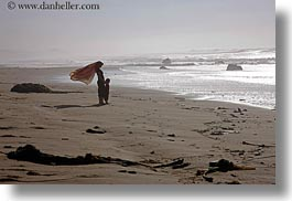 beaches, california, horizontal, jack jill, jills, marin, marin county, north bay, northern california, ocean, people, scarves, west coast, western usa, photograph
