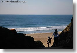 beaches, california, horizontal, jack and jill, jack jill, marin, marin county, north bay, northern california, people, silhouettes, west coast, western usa, photograph