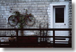bicycles, california, horizontal, marin, marin county, north bay, northern california, pt reyes station, walls, west coast, western usa, photograph