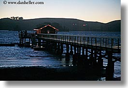 bay, blues, california, christmas, colors, cove, dusk, events, horizontal, lights, marin, marin county, nature, nicks, nicks cove, north bay, northern california, piers, tomales bay, water, west coast, western usa, photograph
