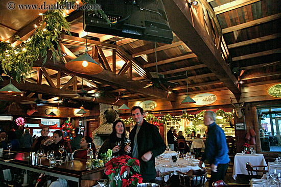 Nicks cove restaurant and christmas decorations