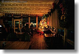 california, christmas, cove, decorations, dusk, events, horizontal, lights, marin, marin county, nicks, nicks cove, north bay, northern california, restaurants, tomales bay, west coast, western usa, photograph