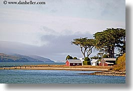 bay, blues, california, colors, horizontal, houses, marin, marin county, nature, north bay, northern california, tomales, tomales bay, water, west coast, western usa, photograph