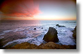 california, coast, horizontal, marin, marin county, north bay, northern california, pacific, rodeo beach, san francisco bay area, slow exposure, sunsets, west coast, western usa, photograph
