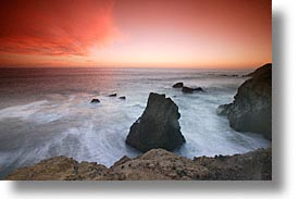 california, coast, horizontal, long exposure, marin, marin county, north bay, northern california, pacific, rodeo beach, san francisco bay area, sunsets, west coast, western usa, photograph