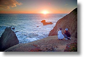 california, coast, horizontal, marin, marin county, north bay, northern california, pacific, people, rodeo beach, san francisco bay area, sunsets, west coast, western usa, photograph
