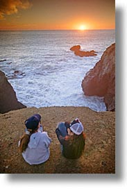 california, coast, marin, marin county, north bay, northern california, pacific, people, rodeo beach, san francisco bay area, sunsets, vertical, west coast, western usa, photograph