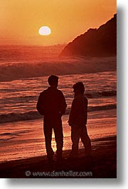 california, couples, marin, marin county, north bay, northern california, rodeo beach, san francisco bay area, sunsets, vertical, west coast, western usa, photograph