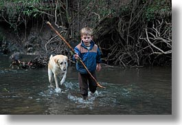 animals, bens, boys, california, childrens, dogs, forests, horizontal, kyle, labrador, marin, marin county, nature, north bay, northern california, people, phoenix lake park, plants, ross, scenics, trees, west coast, western usa, photograph
