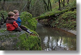 boys, california, childrens, colors, forests, green, horizontal, kyle, lush, marin, marin county, nature, north bay, northern california, people, phoenix lake park, plants, ross, russel, scenics, trees, west coast, western usa, photograph