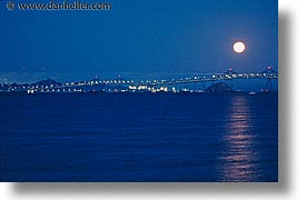 bridge, california, fog, full moon, horizontal, marin, marin county, moon, moonrise, nite, north bay, northern california, san francisco bay area, san rafael, water, west coast, western usa, photograph