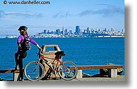 bay, bicycles, california, cityscapes, horizontal, marin, marin county, north bay, northern california, san francisco, san francisco bay area, sausalito, views, water, west coast, western usa, womens, photograph
