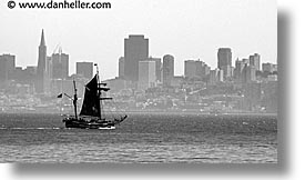 black and white, california, horizontal, marin, marin county, north bay, northern california, pirates, san francisco, san francisco bay area, sausalito, west coast, western usa, photograph