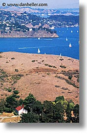 bay, california, churches, hills, landscapes, marin, marin county, north bay, northern california, sailboats, san francisco bay area, sausalito, scenics, vertical, west coast, western usa, photograph