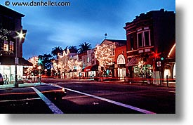 california, horizontal, marin, marin county, nite, north bay, northern california, san francisco bay area, sausalito, stores, streets, west coast, western usa, photograph