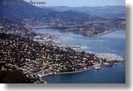 aerials, california, horizontal, marin, marin county, north bay, northern california, sausalito, west coast, western usa, photograph