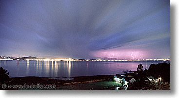 california, horizontal, lightning, marin, marin county, north bay, northern california, panoramic, san francisco bay area, scenics, west coast, western usa, photograph