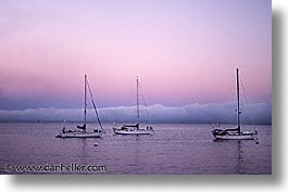 boats, california, coastline, fog, horizontal, marin, marin county, north bay, northern california, pacific ocean, san francisco bay area, scenics, shoreline, water, west coast, western usa, photograph