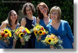 brides maids, california, flowers, girls, horizontal, marin, marin county, north bay, northern california, stinson beach, wedding, west coast, western usa, photograph