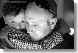 black and white, california, childrens, fathers, horizontal, marin, marin county, north bay, northern california, stinson beach, wedding, west coast, western usa, photograph